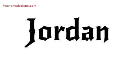 Gothic Name Tattoo Designs Jordan Download Free