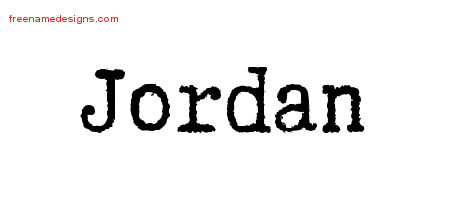Typewriter Name Tattoo Designs Jordan Free Printout