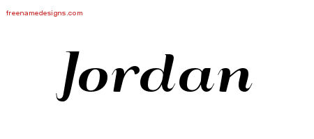 Art Deco Name Tattoo Designs Jordan Graphic Download