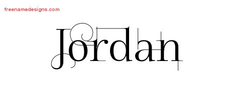 Decorated Name Tattoo Designs Jordan Free Lettering