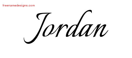 Calligraphic Name Tattoo Designs Jordan Free Graphic