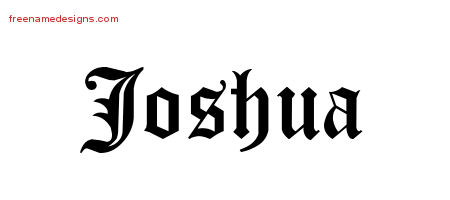Blackletter Name Tattoo Designs Joshua Printable