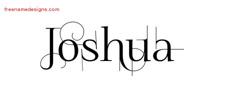 Decorated Name Tattoo Designs Joshua Free Lettering