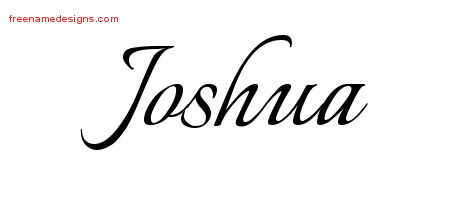Calligraphic Name Tattoo Designs Joshua Free Graphic