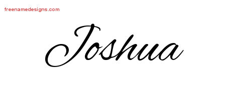 Cursive Name Tattoo Designs Joshua Free Graphic