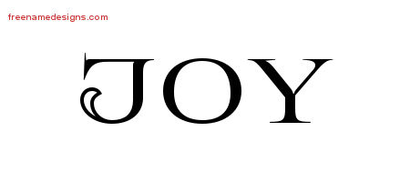 Flourishes Name Tattoo Designs Joy Printable