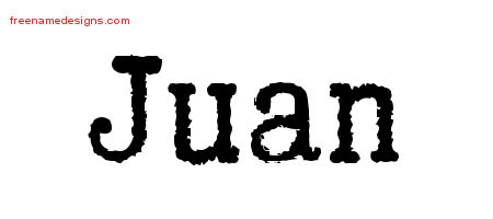 Typewriter Name Tattoo Designs Juan Free Download