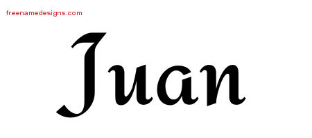 Calligraphic Stylish Name Tattoo Designs Juan Download Free