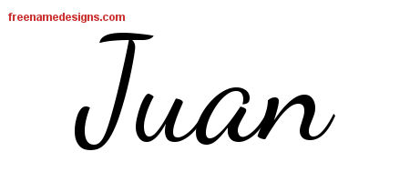 Lively Script Name Tattoo Designs Juan Free Printout