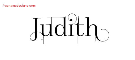 Decorated Name Tattoo Designs Judith Free