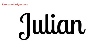 Handwritten Name Tattoo Designs Julian Free Download