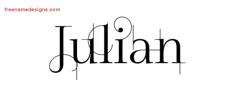 Decorated Name Tattoo Designs Julian Free