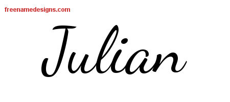 Lively Script Name Tattoo Designs Julian Free Download