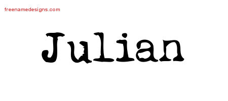Vintage Writer Name Tattoo Designs Julian Free
