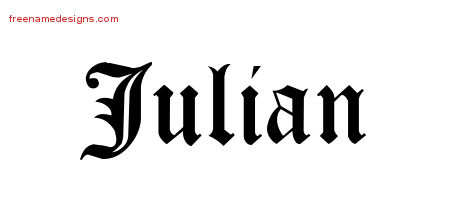 Blackletter Name Tattoo Designs Julian Printable