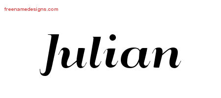 Art Deco Name Tattoo Designs Julian Printable