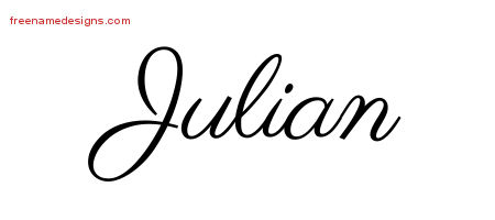 Classic Name Tattoo Designs Julian Graphic Download