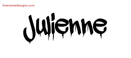 Graffiti Name Tattoo Designs Julienne Free Lettering