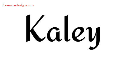 Calligraphic Stylish Name Tattoo Designs Kaley Download Free