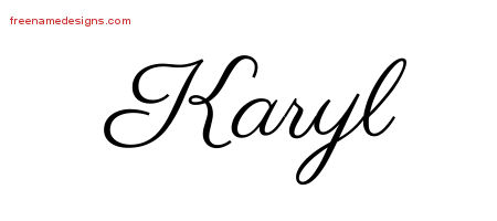 Classic Name Tattoo Designs Karyl Graphic Download