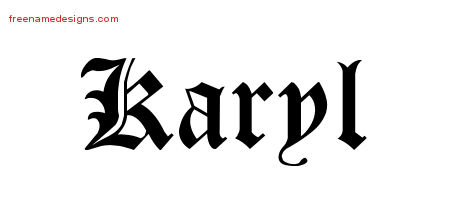 Blackletter Name Tattoo Designs Karyl Graphic Download