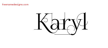 Decorated Name Tattoo Designs Karyl Free