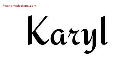 Calligraphic Stylish Name Tattoo Designs Karyl Download Free