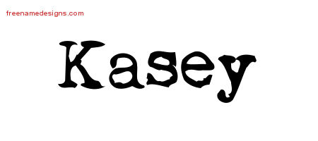 Vintage Writer Name Tattoo Designs Kasey Free