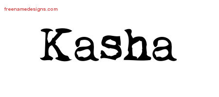 Vintage Writer Name Tattoo Designs Kasha Free Lettering