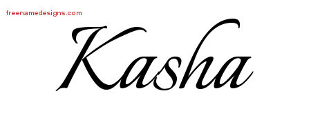 Calligraphic Name Tattoo Designs Kasha Download Free