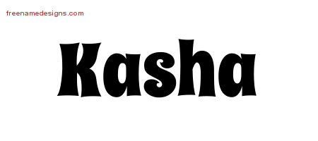 Groovy Name Tattoo Designs Kasha Free Lettering