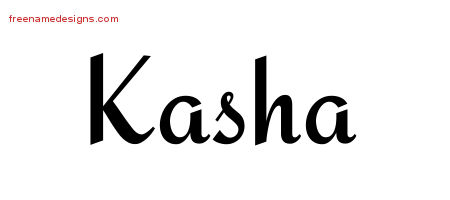 Calligraphic Stylish Name Tattoo Designs Kasha Download Free