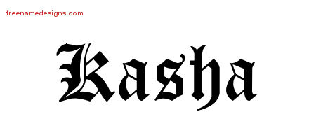 Blackletter Name Tattoo Designs Kasha Graphic Download