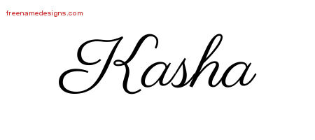 Classic Name Tattoo Designs Kasha Graphic Download