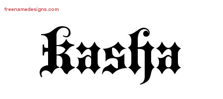 Old English Name Tattoo Designs Kasha Free