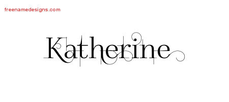 Decorated Name Tattoo Designs Katherine Free