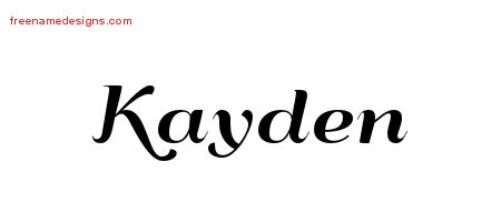 Art Deco Name Tattoo Designs Kayden Graphic Download