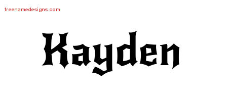 Gothic Name Tattoo Designs Kayden Download Free