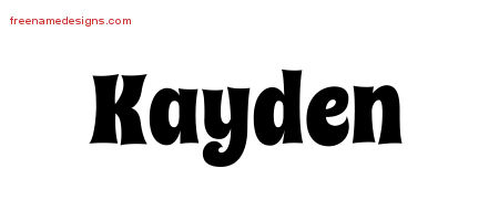 Groovy Name Tattoo Designs Kayden Free