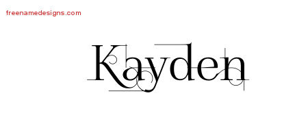 Decorated Name Tattoo Designs Kayden Free Lettering