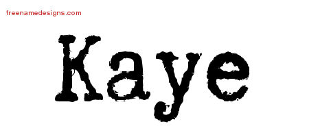 Typewriter Name Tattoo Designs Kaye Free Download