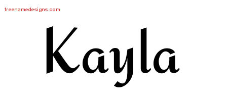 Calligraphic Stylish Name Tattoo Designs Kayla Download Free