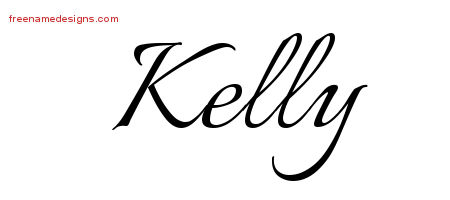 Calligraphic Name Tattoo Designs Kelly Free Graphic