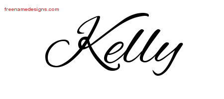 Cursive Name Tattoo Designs Kelly Free Graphic