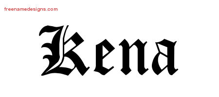 Blackletter Name Tattoo Designs Kena Graphic Download