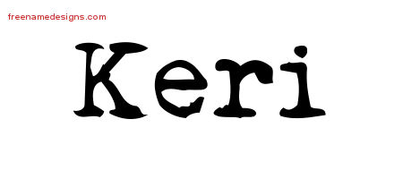 Vintage Writer Name Tattoo Designs Keri Free Lettering