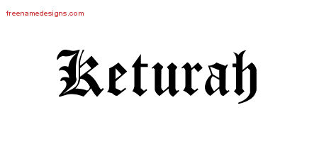Blackletter Name Tattoo Designs Keturah Graphic Download