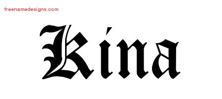 Blackletter Name Tattoo Designs Kina Graphic Download