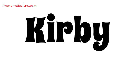 Groovy Name Tattoo Designs Kirby Free Lettering