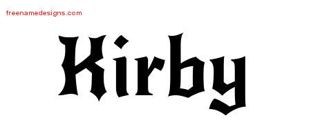 Gothic Name Tattoo Designs Kirby Download Free